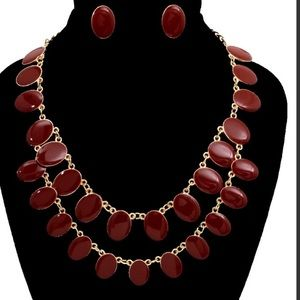 Wine Night at the roxy  necklace set *NWT*